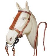 Spanish Repujada bridle and reins with matching breastplate